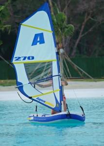 sailing in lagoon